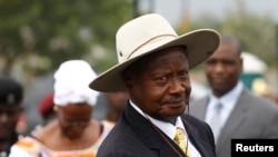 乌干达总统穆塞韦尼。(资料照)