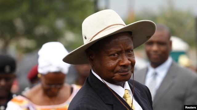 FILE - Uganda's President Yoweri Museveni