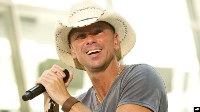 "Kenny Chesney performs on NBC's ""Today"" show in New York, June 22, 2012."