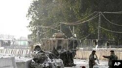 27일 아프가니스탄 카불 시 동부 폭탄테러 현장.