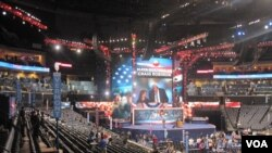 Charlotte, en Caroline du Nord, accueille la Convention nationale du parti démocrate (N.Pinault/VOA)