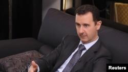 敘利亞總統巴沙爾.阿薩德在大馬士革接受土耳其報章訪問