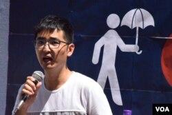 學聯前秘書長周永康表示,香港學運可以借鏡魁北克學運。(美國之音湯惠芸)