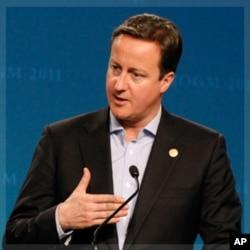 英國首相卡梅倫在英聯邦首腦會議上發言