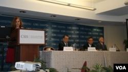戰略與國際研究中心舉行美、中、台關係研討會(美國之音鍾辰芳拍攝)