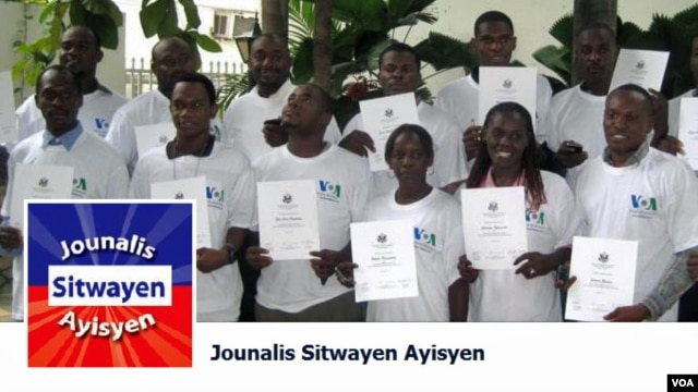 Citizen journalists from Haiti on VOA's special Facebook page.