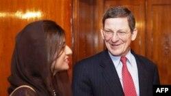 Պակիստան արտգործնախարար Հինա Ռաբանի Խառի հանդիպումը Աֆղանստանի և Պակիստանի հարցերով ԱՄՆ-ի հատուկ հանձնակատար Մարկ Գրոսմանի հետ
