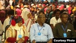 Participants listen to a presentation at the Mogadishu Book Fair in Mogadishu, Somalia. (Courtesy - Mogadishu Book Fair)