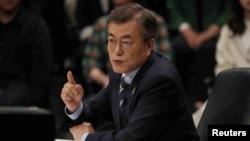 Kandidat Partai Demokrat Liberal, Moon Jae-in, diperkirakan unggul dalam Pilpres Korea Selatan hari Selasa (9/5).