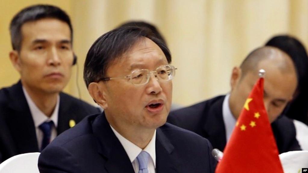 Ủy viên Quốc vụ viện TQ, Dương Khiết Trì, phát biểu trong hội nghị hợp tác với Ngoại trưởng VN, Phạm Bình Minh tại Hà Nội, 27/6/2016