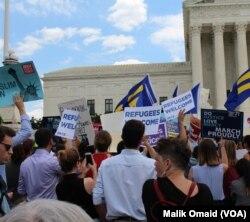 سفری پابندیوں کے حق میں فیصلے کے خلاف مظاہرہ۔ 26 جون 2018