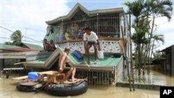 颱風在菲律賓造成嚴重損失。