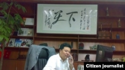 深圳警員王登朝任保安公司經理時工作照。(網絡圖片)