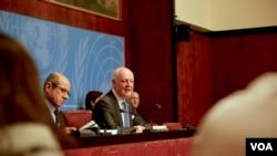 استفان دی میستورا نماینده ویژه سازمان ملل متحد روز دوشنبه خواستار حمایت دمشق از توافق ترک مخاصمه در سوریه شده بود