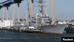 Tư liệu: Tàu khu trục có tên lửa dẫn đường USS Wayne E. Meyer tại cảng San Diego, California, ngày 12/4/2015. REUTERS/Louis Nastro/File Photo