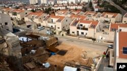 지난달 25일 요르단 서안지구 아리엘 지역의 유대인 정착촌.