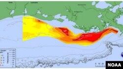 Dengan luas 2.720 mil persegi, kawasan yang sama luasnya dengan Delaware, zona mati di Teluk Meksiko lebih kecil dari rata-rata.