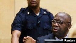 Cựu Tổng thống Bờ Biển Ngà Laurent Gbagbo tại Tòa án Hình sự Quốc tế.