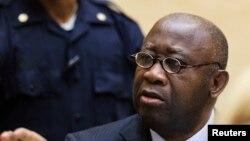 L'ancien président ivoirien Laurent Gbagbo, devant la Justice à La Haye (Reuters)
