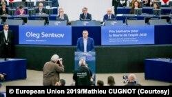 Олег Сенцов у Європейському Парламенті 26 листопада 2019 р.