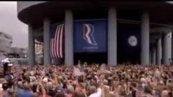 """2012-08-12 美國之音視頻新聞: 羅姆尼與瑞安到""""搖擺州""""進行競選宣傳"""