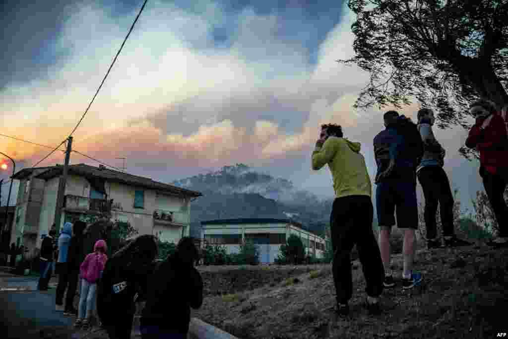 آتش سوزی در منطقه توسکانی ایتالیا