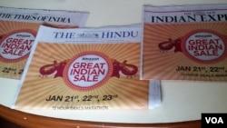 印度媒体对于中国的报道主要分成两个阵营 - 唱衰中国的和支持中国的。(美国之音朱诺拍摄)