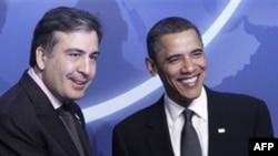 Михаил Саакашвили и Барак Обама