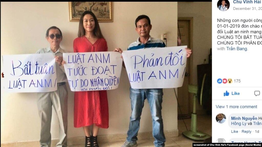 Các nhà hoạt động phản đối Luật An ninh mạng của Việt Nam kể cả sau khi nó có hiệu lực từ 1/1/2019