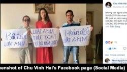 Các nhà hoạt động phản đối Luật An ninh mạng của Việt Nam