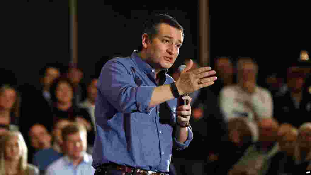 Republican presidential candidate, Sen. Ted Cruz, R-Texas, speaks at a campaign event, Jan. 27, 2016 in West Des Moines, Iowa.