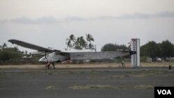 ເຮືອບິນໃຊ້ພະລັງແສງຕາເວັນ Solar Impulse 2 ໄດ້ເດີນທາງ ໄປເຖິງລັດຮາວາຍ ໃນວັນສຸກວານນີ້.