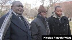 Nicolas Guérékoyame Gbangou, Omar Kobine Layama et Dieudonné Nzapalainga à Washington, le 18 mars 2014