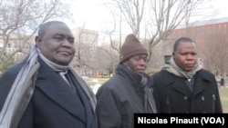 Nicolas Guérékoyame Gbangou, Oumar Kobine Layama et Dieudonné Nzapalainga à Washington, le 18 mars 2014