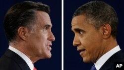 Republikanski predsednički kandidat Mit Romni i predsednik Barak Obama