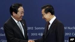 日本首相野田佳彦和韩国总统李明博三月在首尔会晤