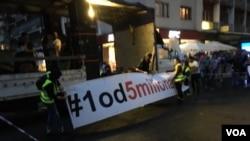 Protest pokreta 1 od 5 miliona po 44. put se održavaju u Beogradu, Foto: VOA
