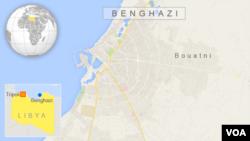 ແຜນທີີ່ ເມືອງ Benghazi, Libya