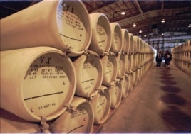 The extremely lethal nerve agent VX sits stored in 1,269 steel containers at the Newport Chemical Depot in western Indiana Tuesday, Nov. 18, 1997. Stored since 1969, the military is working on a plan to destroy the agent listed as the deadliest substance
