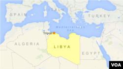ແຜນທີ່ ປະເທດລີເບຍ ທີ່ສະແດງໃຫ້ເຫັນ ນະຄອນ Tripoli