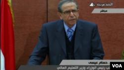 이집트 과도정부 관계자가 25일 무슬림형제단의 테러단체 지정을 발표하고 있다.