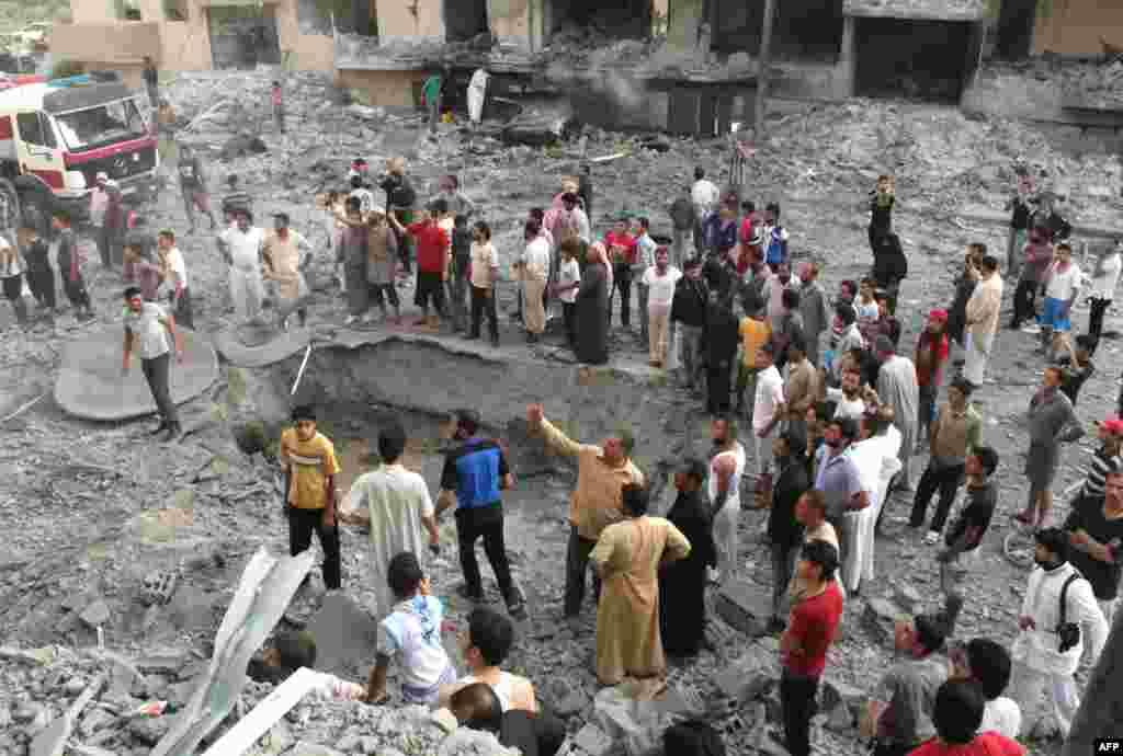 Suriyaning Raqqa shahrida portlash. 7-avgust, 2013-yil.