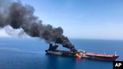 حمله روز پنجشنبه در نزدیک تنگه هرمز