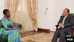 Antoinette Sayeh e Patrice Trovoada