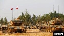 نیروهای زمینی ترکیه از یک هفته به اینسو در داخل خاک سوریه سرگرم انجام عملیات نظامی اند