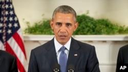 El presidente Barack Obama destacó que los compromisos hechos por empresas que se han unido a su Promesa del Clima suman por lo menos $160 mil millones de dólares.