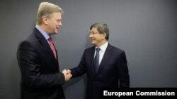 Türk Dışişleri Bakanı Ahmet Davutoğlu ile AB Komisyonu'nun Genişlemeden Sorumlu Üyesi Stefan Füle, Brüksel'de bir araya geldiler.