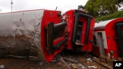Un train a déraillé à Eseka, au Cameroun, le 22 octobre 2016