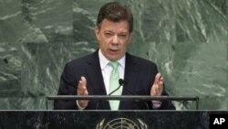 """El mandatario colombiano Juan Manuel Santos dijo que su gobierno busca """"construir las condiciones para la paz""""."""