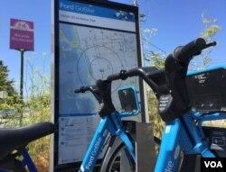 Một nơi cho thuê xe đạp ở thành phố Đại học Berkeley (Ảnh: Bùi Văn Phú)